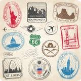 Selos do Grunge dos monumentos dos E.U. Fotografia de Stock