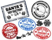 Selos do Natal ajustados Imagem de Stock Royalty Free
