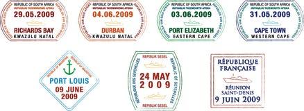 Selos do passaporte Imagens de Stock Royalty Free