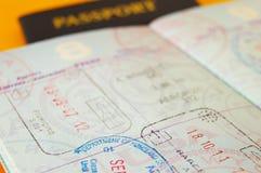 Selos do passaporte fotografia de stock royalty free