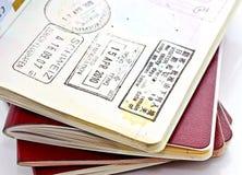 Selos do passaporte imagem de stock royalty free