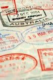Selos do passaporte imagens de stock