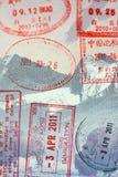 Selos do passaporte Fotografia de Stock