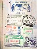 Selos do passaporte Imagem de Stock