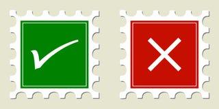 Selos do tiquetaque & da cruz Fotografia de Stock