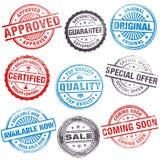 Selos do vetor para vendas e promoções Fotografia de Stock Royalty Free