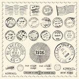 Selos do vintage ajustados ilustração royalty free