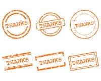 Selos dos agradecimentos ilustração royalty free