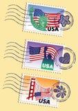 Selos dos marcos ajustados Imagem de Stock Royalty Free