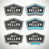 Selos e crachás do melhor vendedor ilustração stock