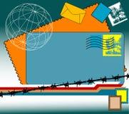 Selos e envelopes Imagens de Stock