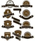 Selos e medalhas do vintage com fitas Imagens de Stock