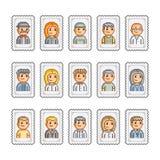 Selos e povos do pixel Foto de Stock