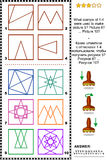 Selos e Q.I. das cópias que treina o enigma da imagem Imagem de Stock