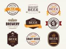 Selos e selos da cerveja Imagens de Stock Royalty Free