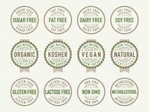 Selos e selos da dieta Foto de Stock