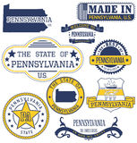 Selos e sinais genéricos de Pensilvânia Fotos de Stock Royalty Free