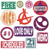 Selos estilizados nas cores Fotografia de Stock