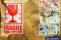 Selos impressos em Hong Kong Fotos de Stock
