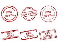 Selos novos da oferta ilustração stock