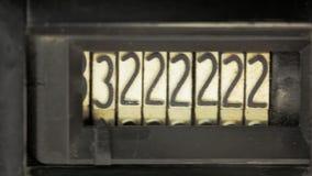 Selos numéricos da subtração video estoque