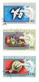 Selos obsoletos do borne de Hungria foto de stock royalty free