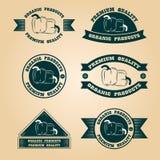 Selos orgânicos da colheita do vintage ajustados Imagem de Stock Royalty Free