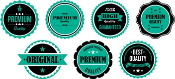 Selos ou etiquetas de qualidade ilustração do vetor