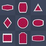 Selos postais da coleção Fotos de Stock