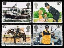 Selos postais da polícia de Grâ Bretanha Fotografia de Stock
