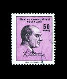 Selos postais definitivos, 1966, Ataturk, serie, cerca de 1966 Fotos de Stock Royalty Free
