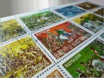 Selos postais - detalhe Foto de Stock Royalty Free