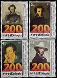 Selos postais do aniversário imagens de stock