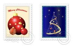 Selos postais do Natal ilustração do vetor