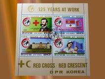 Selos postais - DPR COREIA Fotografia de Stock