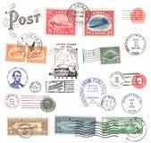 Selos postais e etiquetas dos E.U. Fotos de Stock