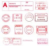 Selos postais internacionais Fotografia de Stock
