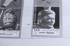 Selos postais, Olympics de inverno Foto de Stock