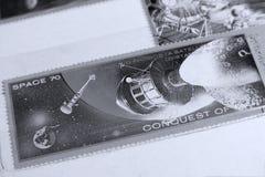 Selos postais, planeta de Marte do espaço Foto de Stock