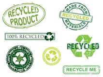 Selos recicl, mais em minha carteira. Imagens de Stock