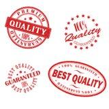 Selos retros do vermelho do vintage Fotos de Stock