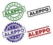 Selos Textured danificados do selo de ALEPPO Ilustração Stock