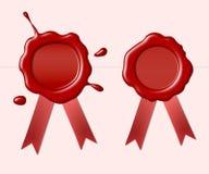 Selos vermelhos da cera Fotografia de Stock Royalty Free