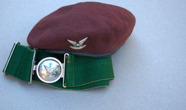 Selous Scouts Beret & Stable Belt Royalty Free Stock Image