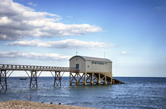 Selsey bill. Lighthouse station in West Sussex Royalty Free Stock Photo