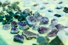 Seltene Edelsteine und Mineralien Lizenzfreie Stockfotos