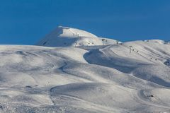 Seltene Felsen-Anordnungen Georgia, Gudauri-Ski resor Stockfotografie