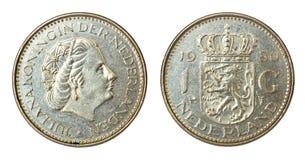 Seltene Retro- Münze von den Niederlanden Lizenzfreie Stockfotos