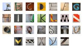Seltenes abstraktes englisches Alphabet Lizenzfreie Stockfotos