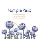 Seltsame Blumenzusammensetzung mit Raum für Text Stockfotografie